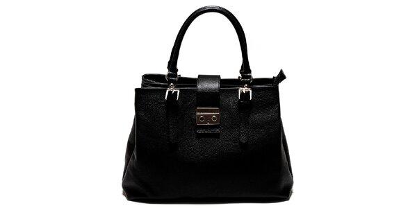 Dámská černá kabelka se zámečkem Isabella Rhea