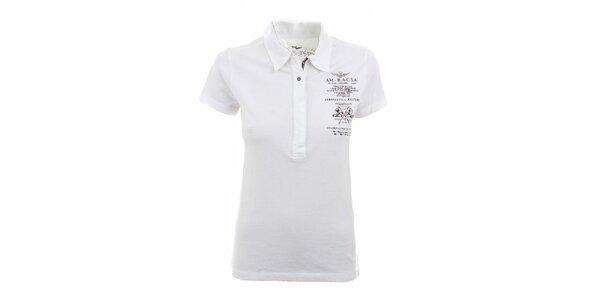 Dámské bílé polo tričko Aeronautica Militare