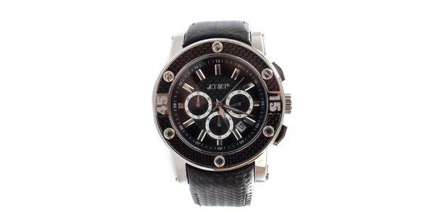 Dámské černé hodinky s ocelovým pouzdrem Jet Set