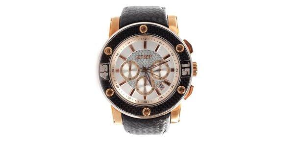 Dámské analogové hodinky Jet Set s detaily v barvě růžového zlata
