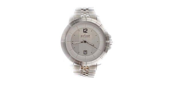 Pánské stříbrné hodinky s datumovkou Axcent