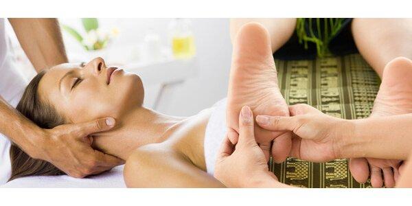 Masáž dle výběru. Šlapací, reflexní i masáž šíje