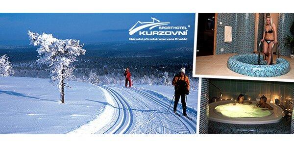 Wellness i lyžování v Jeseníkách s polopenzí pro DVA
