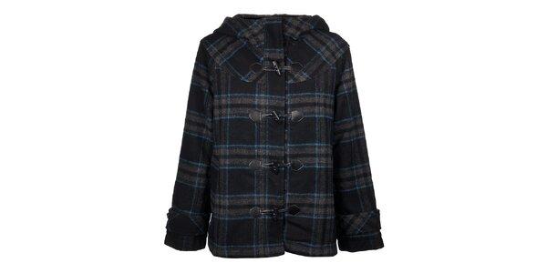 Dámský černo-modrý kostkovaný kabátek Timeout