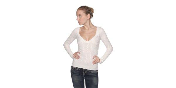 Dámský krémově bílý svetr s vlnou Abercombie&Fitch