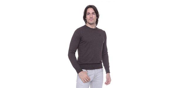 Pánský tmavě hnědý svetr s kašmírem Ballantyne