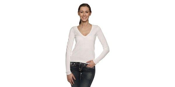 Dámský bílý bavlněný pulovr Ralph Lauren