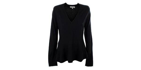 Dámský černý hedvábný svetřík s výstřihem do V Max Mara