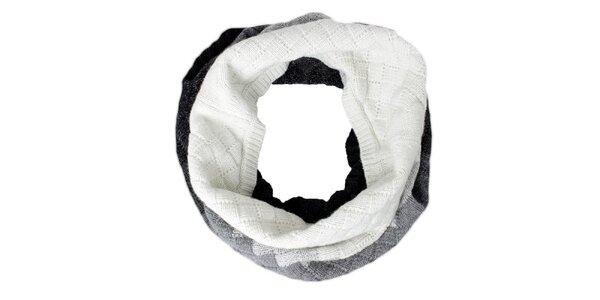 Dámský bílo-šedo-černý nákrčník Max Mara
