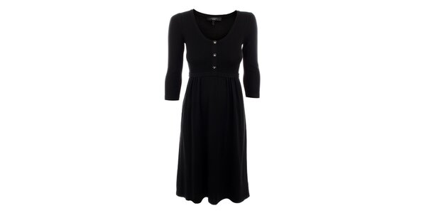 Dámské černé vlněno-hedvábné šaty Max Mara