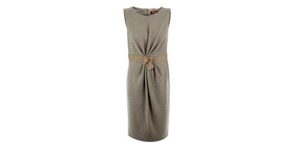 Dámské béžové vlněné šaty Max Mara