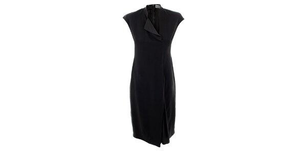 Dámské antracitové hedvábné šaty Max Mara