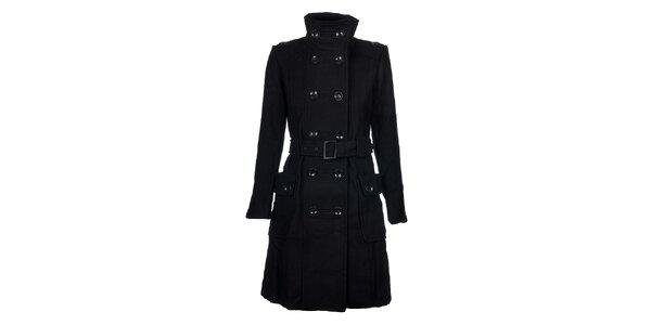 d03d3255756 Dámský černý kabát Timeout