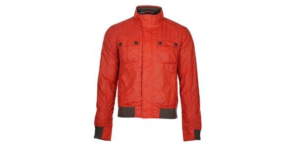 Pánská červená podzimní bunda Timeout