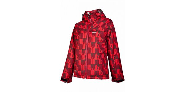 Dámská snowboardová bunda značky Envy v červené barvě