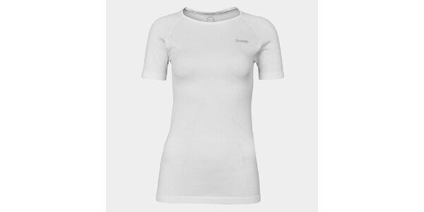 Dámské bílé bezešvé tričko Sweep