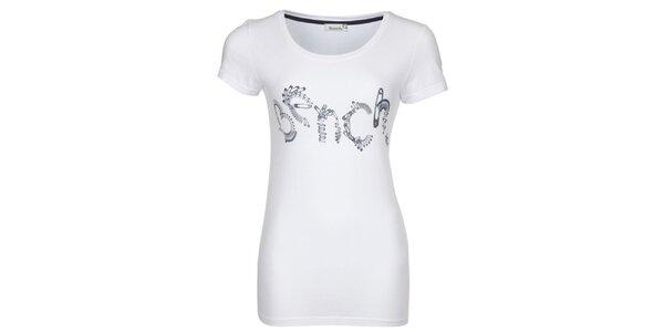 Dámské bílé tričko s potiskem špendlíků Bench