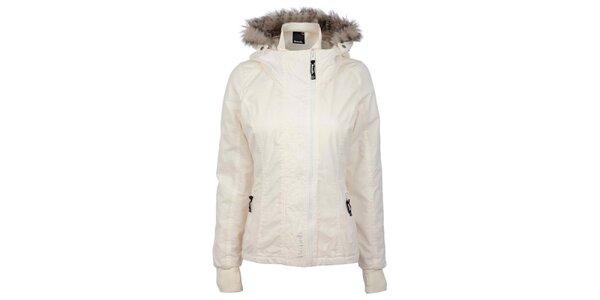 Dámská bílá bunda s kožíškem Bench