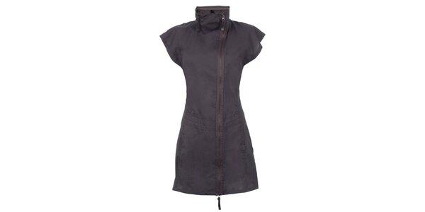 Dámské tmavě šedé šaty na zip Bench