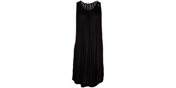Dámské černé nařasené šaty bez rukávů Bench