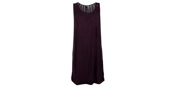 Dámské fialové nařasené šaty bez rukávů Bench