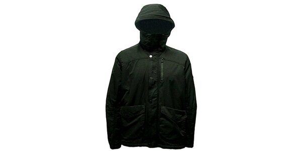 Pánská khaki bunda s kapucí Bench