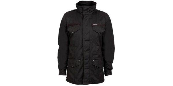 Pánský černý šusťákový kabát Bench