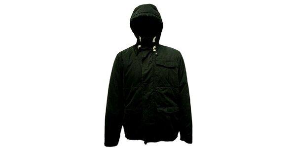 Pánská černá bunda s kapucou Bench
