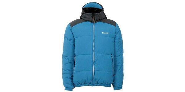 Pánská modro-černá bunda s kapucou Bench