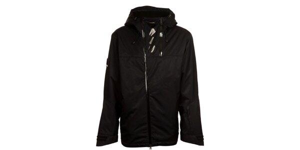 Pánská černá šusťáková bunda s kapucou Bench