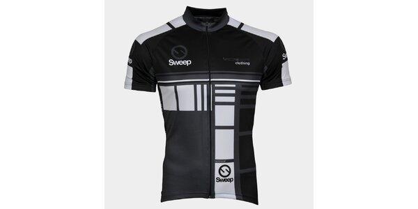 Šedo-černý cyklistický dres Sweep
