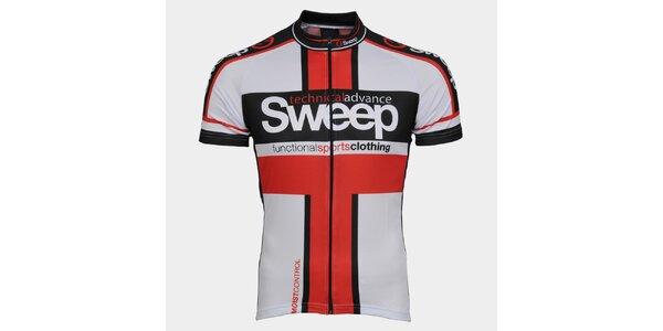 Bílo-červený cyklistický dres Sweep