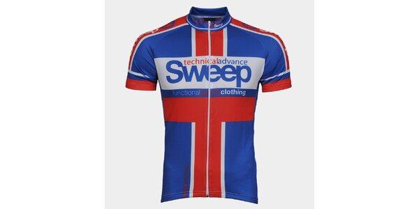 Modro-červený cyklistický dres Sweep