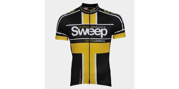 Žluto-černý cyklistický dres Sweep