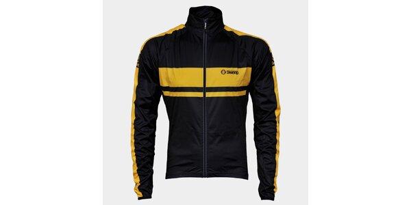 Černo-žlutá cyklistická bunda Sweep