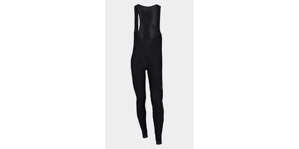 Černé zateplené cyklistické kalhoty Sweep