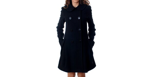Elegantní dámský dvouřadý kabát Mya Alberta v černé barvě