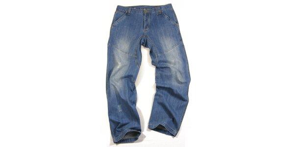 Pánské modré džíny s šisováním Seventy Seven