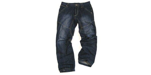 Pánské tmavě modré džíny s šisováním Seventy Seven