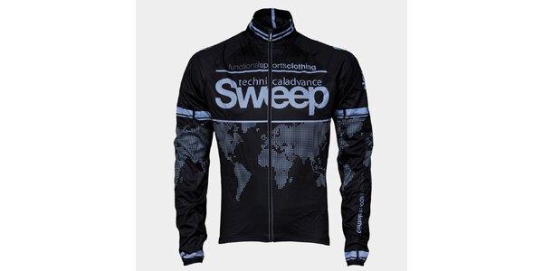 Černo-šedá cyklistická bunda Sweep