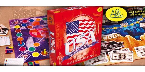 Vědomostní desková hra USA – otázky a odpovědi