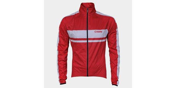Červeno-bílá cyklistická bunda Sweep