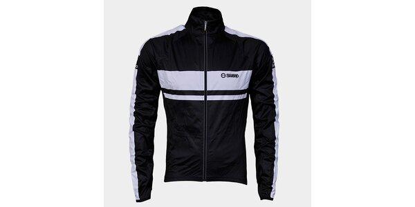 Černo-bílá cyklistická bunda Sweep