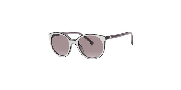 Dámské černo-bílé sluneční brýle Lacoste