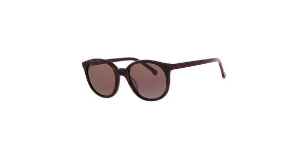 Dámské fialovo-hnědé sluneční brýle Lacoste