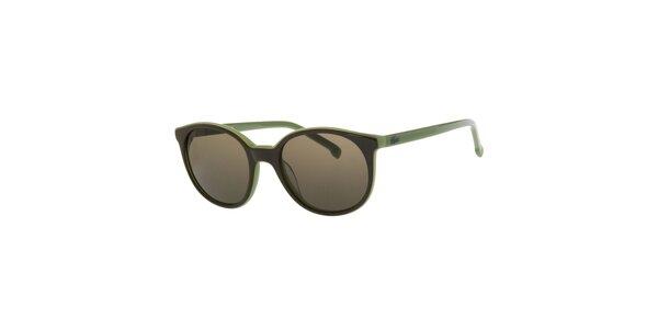 Dámské zelené sluneční brýle Lacoste