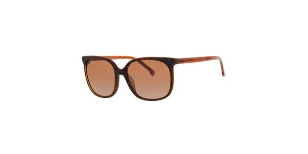 Dámské tmavě hnědé sluneční brýle Lacoste