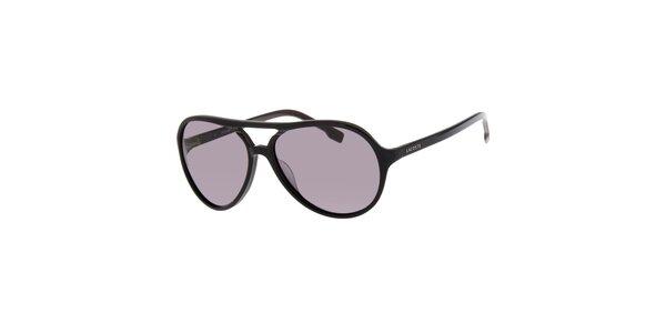 Dámské černé sluneční brýle Lacoste
