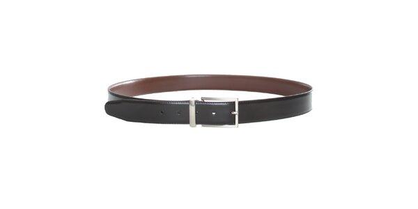 Pánský černo-hnědý oboustranný pásek Calvin Klein