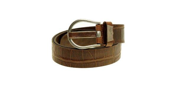 Pánský hnědý kožený pásek Levi´s